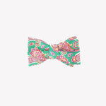 Green with Pink Paisley Bowtie