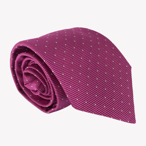 Deep Pink Pin Dot Tie