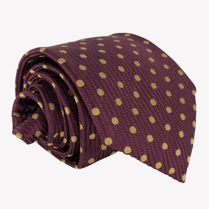 Weaved Burgundy Dotted Tie
