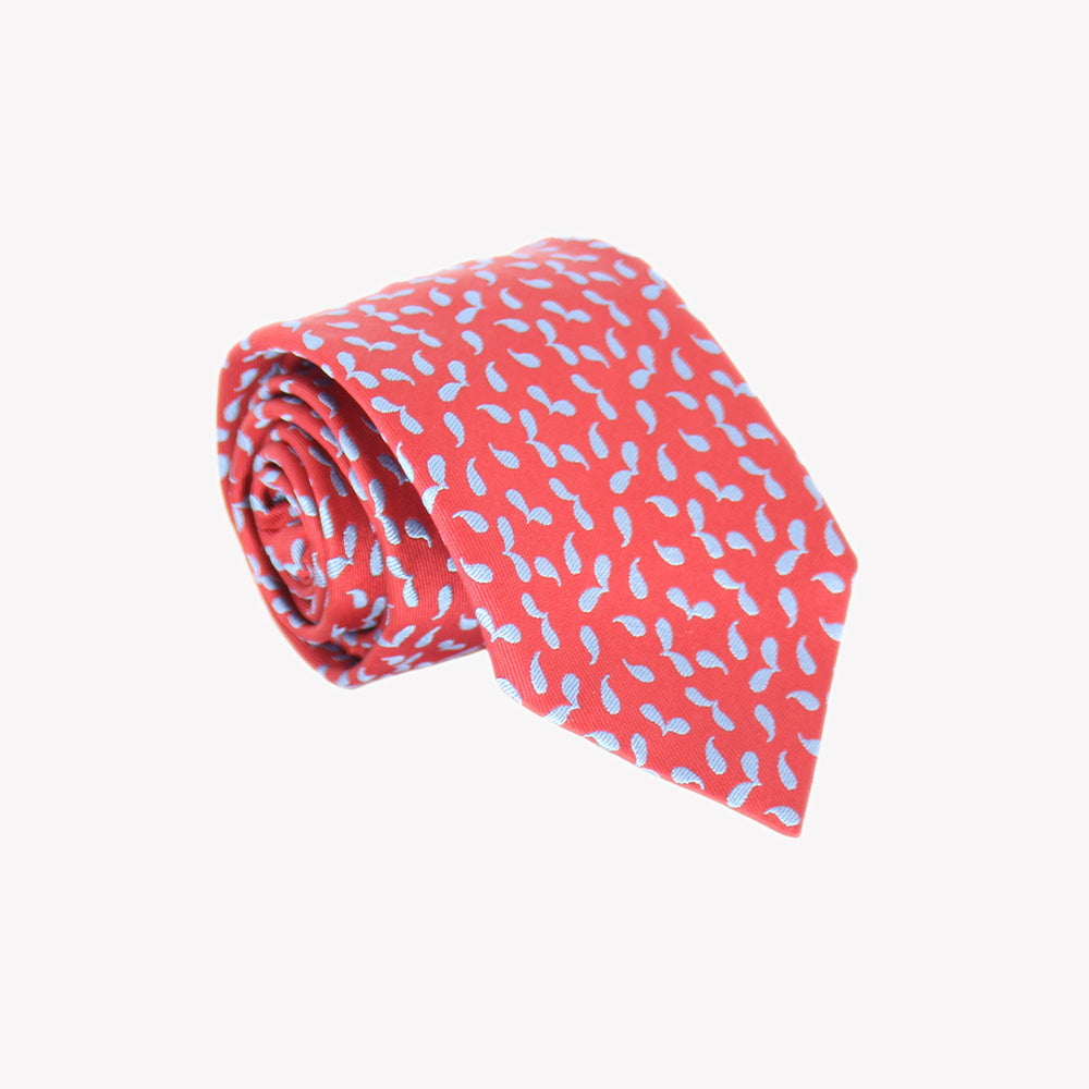 Red with Light Blue Acer Seeds Tie