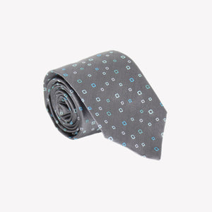 Grey with Neon Square Tie