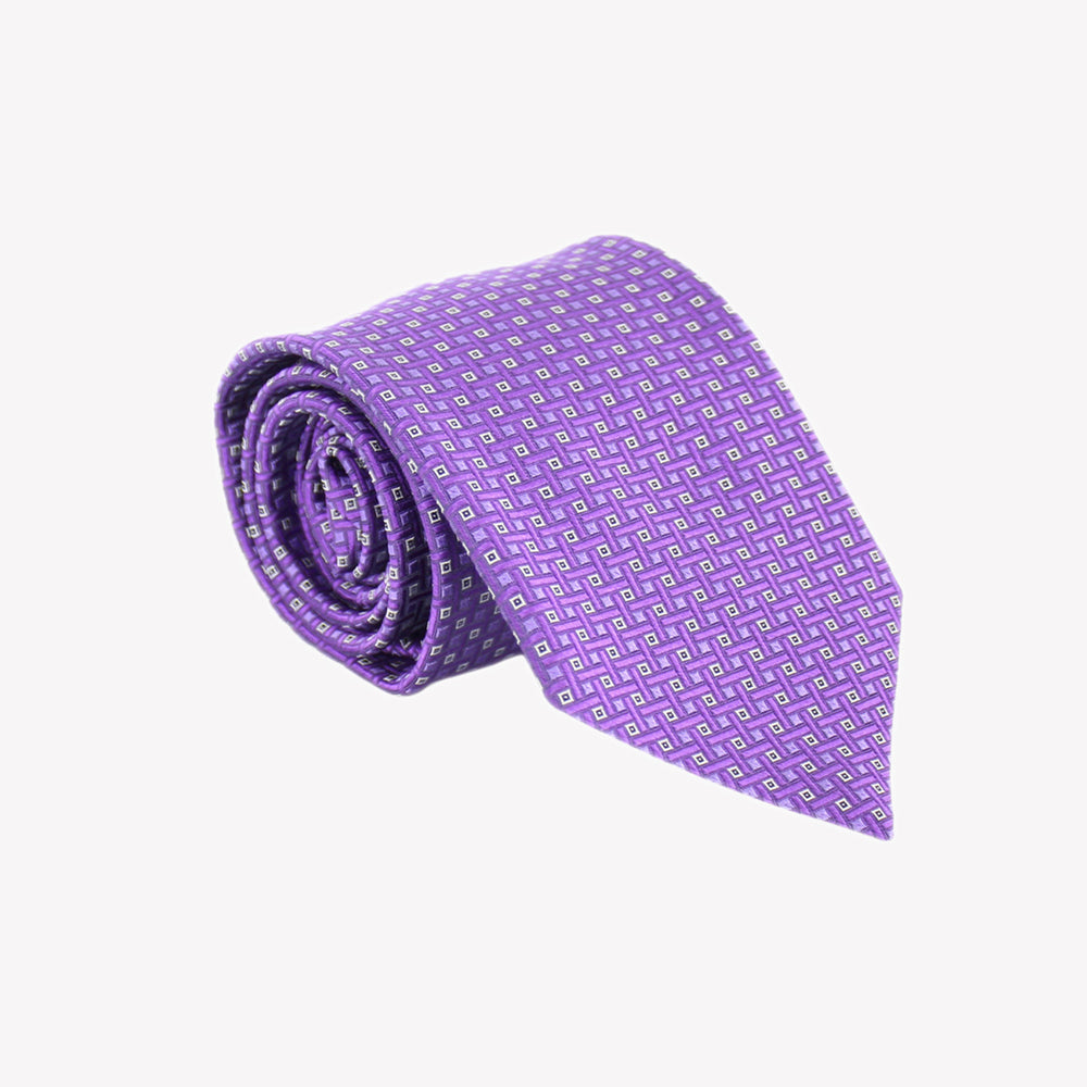 Purple Square Pattern Tie