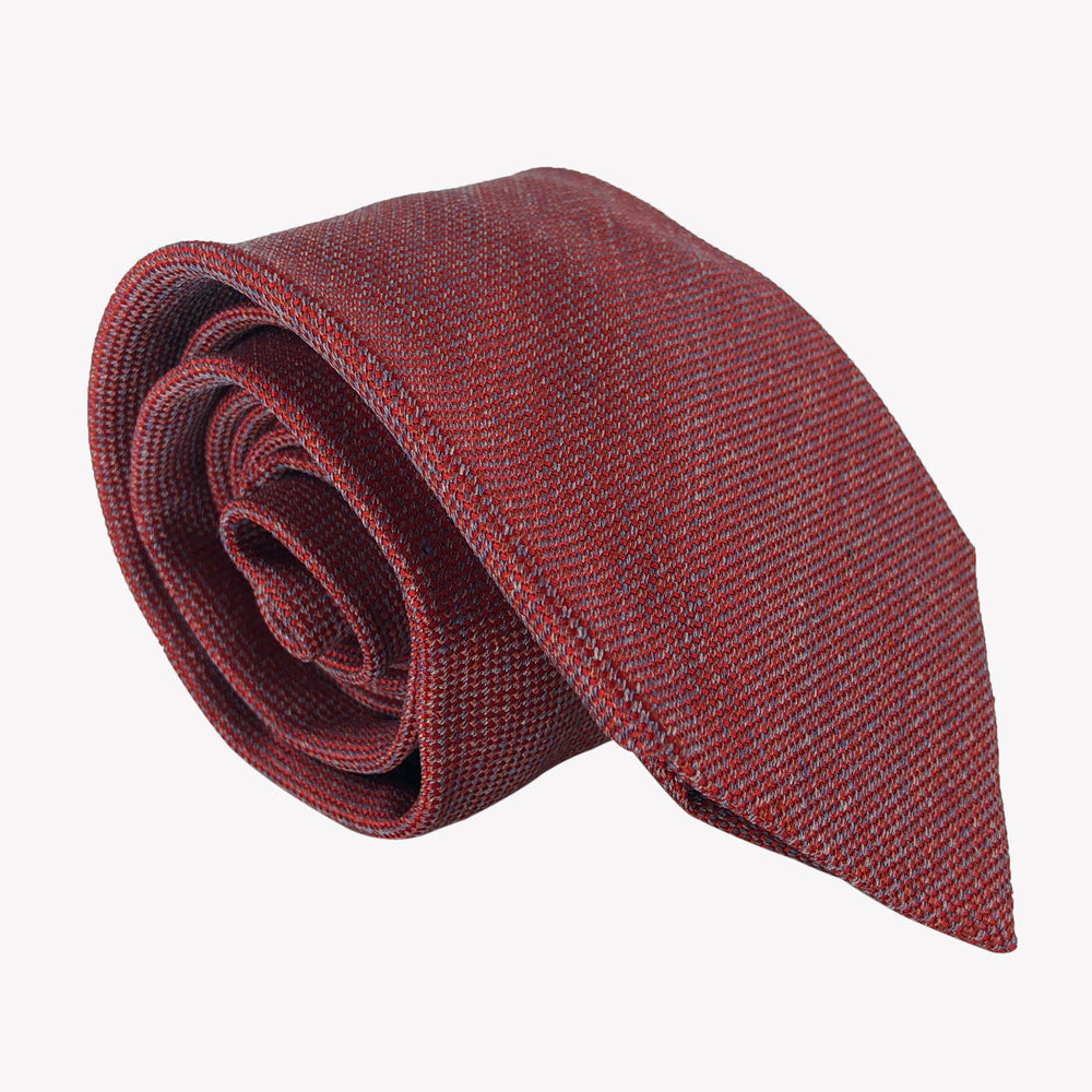 Textured Deep Red Tie