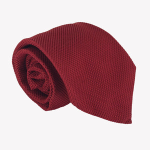Deep Red Textured Tie