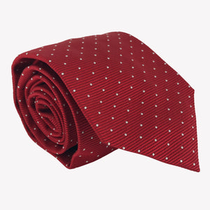 Red with White Pin Dots Tie