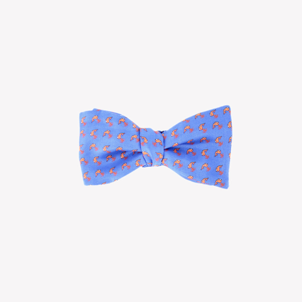 Blue with Orange Whales Bowtie