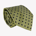 Lime Green with Navy Blue Dots Tie