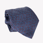 Navy Blue Flower Patterned Tie