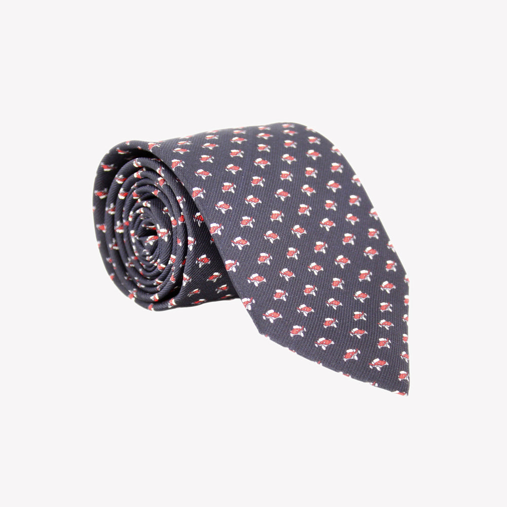 Black with Red Cars Tie