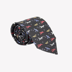 Black with Airplanes Tie