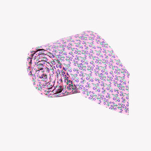 Light Pink with Purple Berries Tie