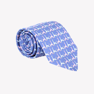 Light Blue with Giraffes Tie