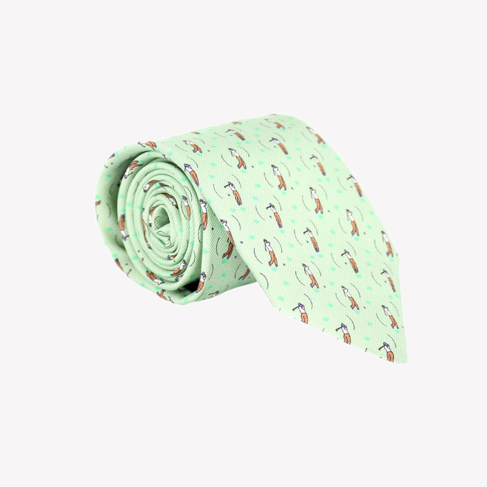 Light Green with Golfer Tie