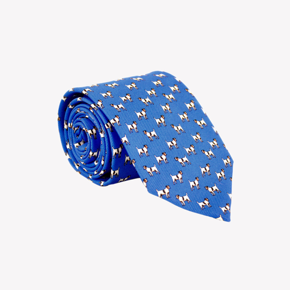 Light Blue with Dogs Tie