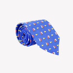 Blue with Sail Boats Tie