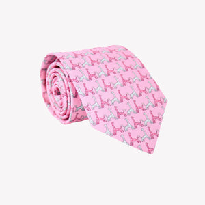 Pink with Giraffes Tie