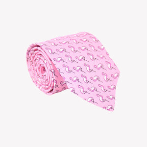 Pink with Pink Flamingos Tie
