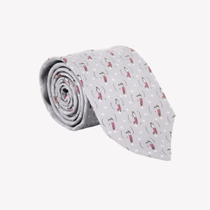 Grey with Golfer Tie