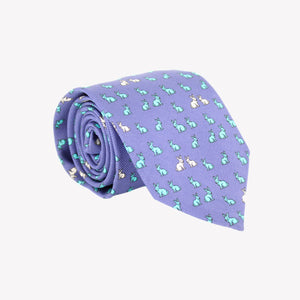 Blue with Rabbits Tie