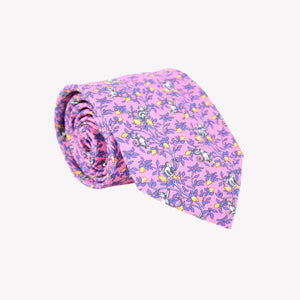 Pink with Monkeys in Trees Tie
