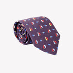 Navy with Sail Boats Tie