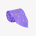Purple with Multi-Color Fish Tie