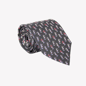 Black with Soccer Players Tie