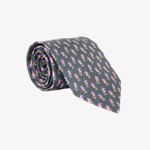 Black with Purple Soccer Players Tie