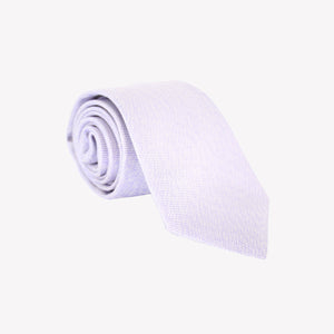 Solid White with Purple Tie