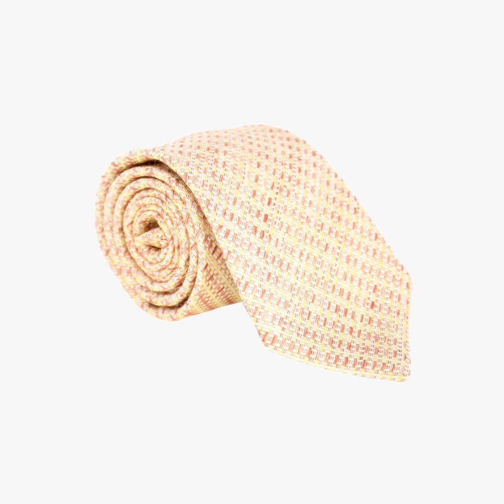 Yellow and Orange Texture Tie