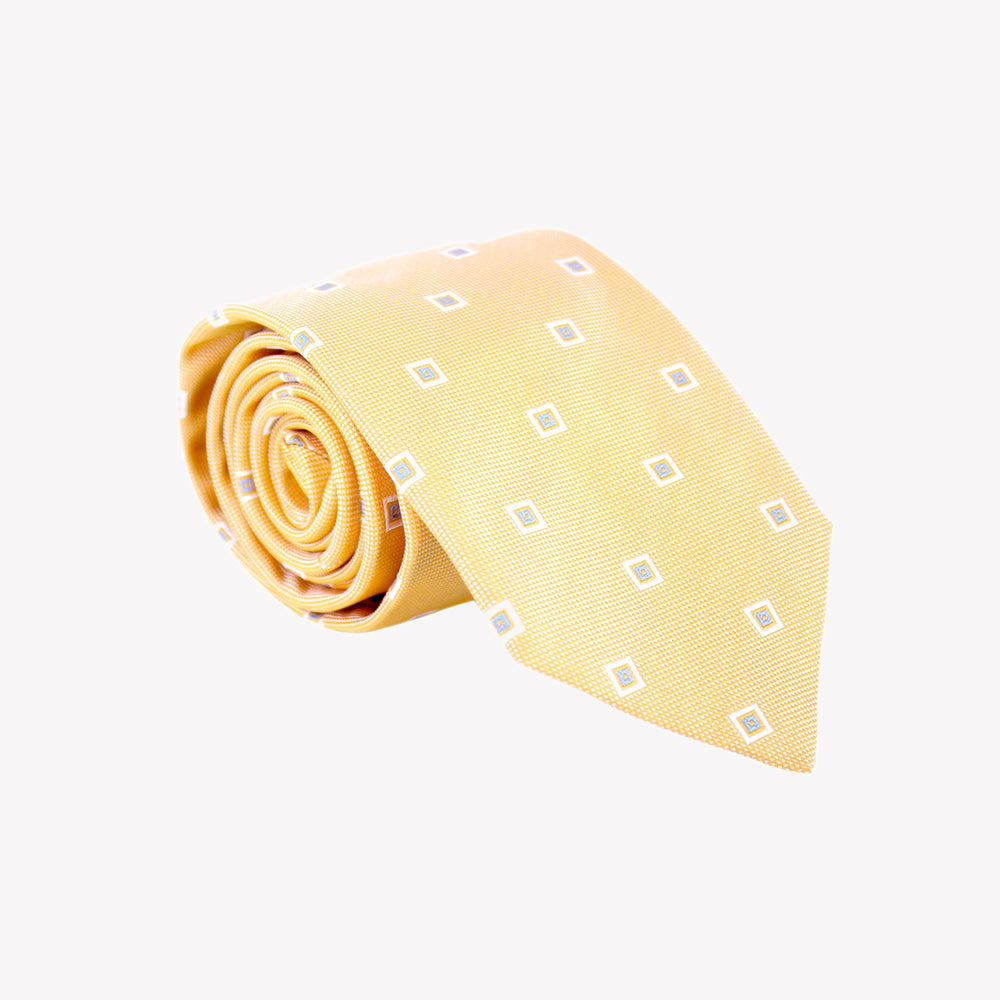 Light Orange with Squares Tie