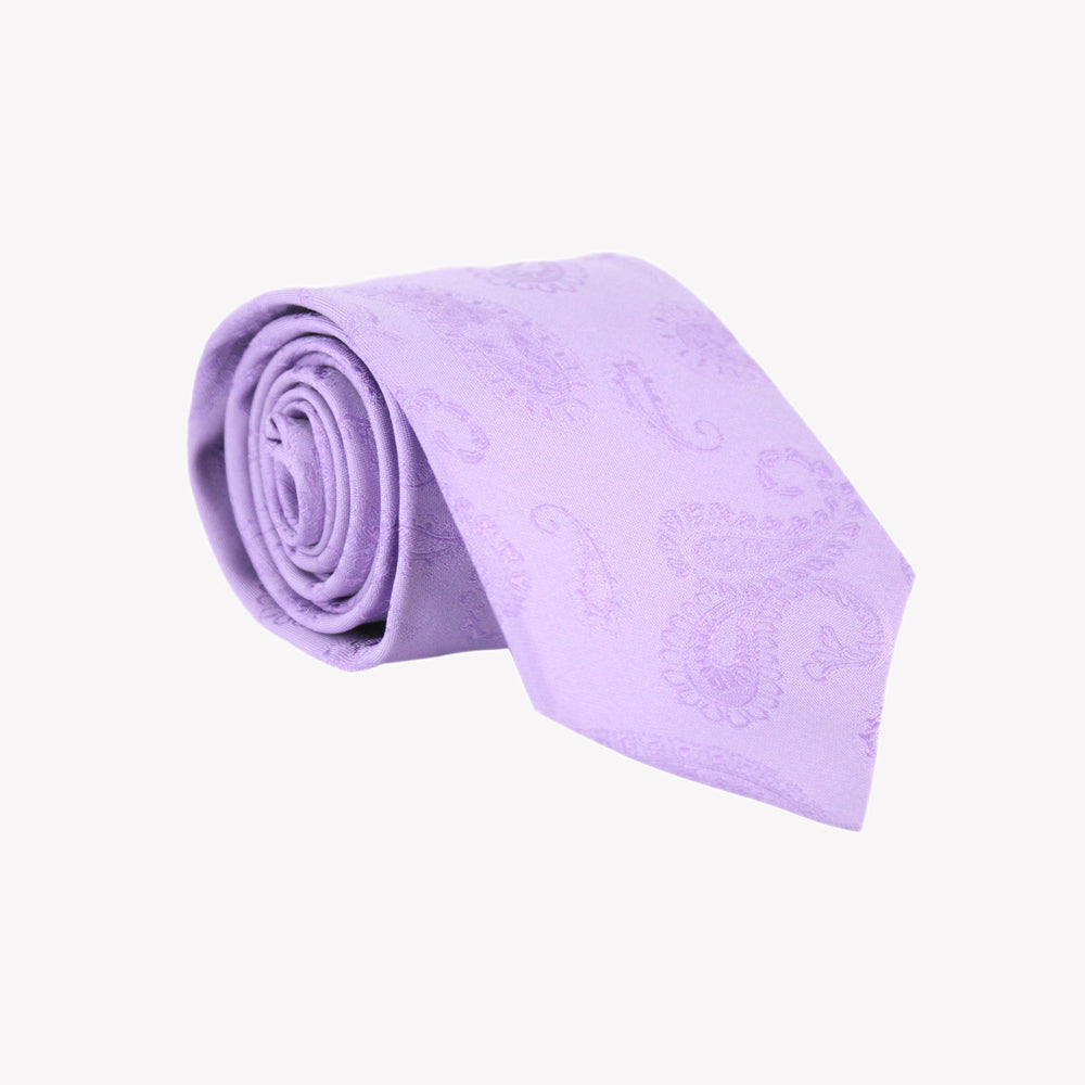 Light Purple Paisley Tie