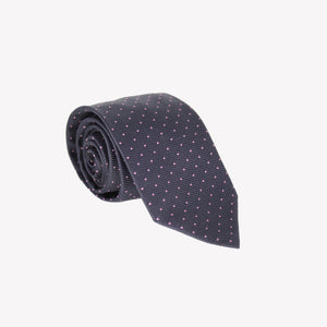 Black with Pink Polka Dots Tie