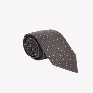 Black and Brown with Polka Dots Tie