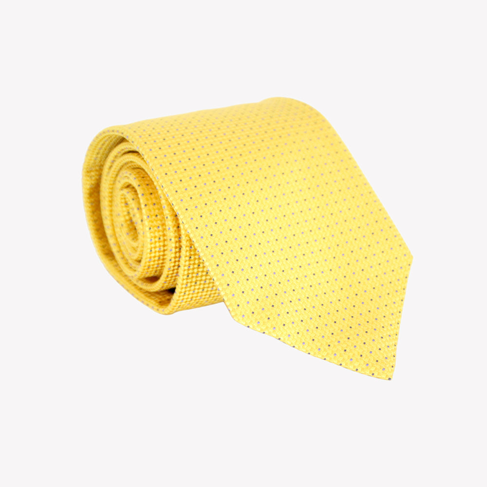 Yellow with Pin Dot Tie