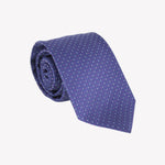 Blue with White Pin Dot Tie