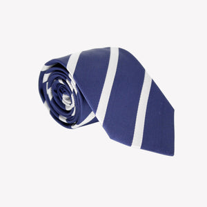 Blue with White Stripe Tie
