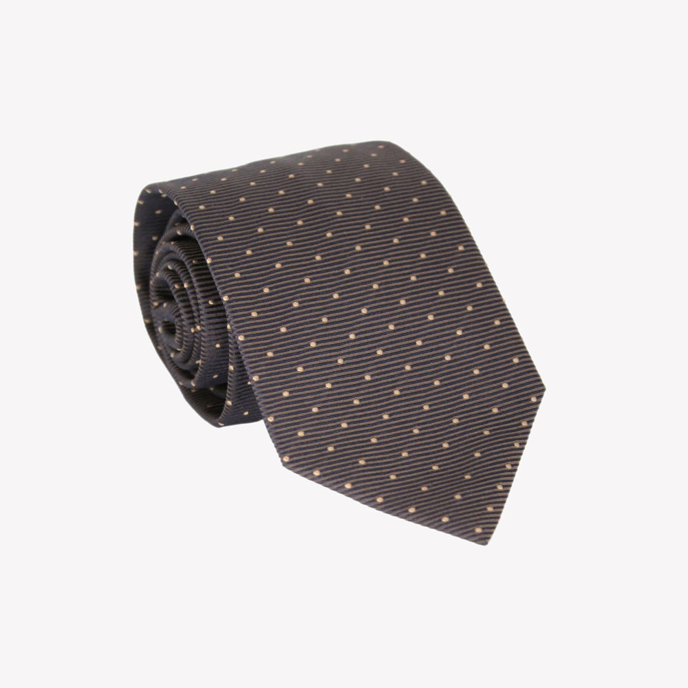 Brown with Polka Dot Tie