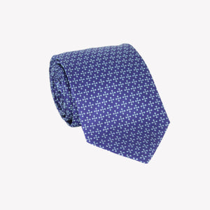 Blue with White Arrows Tie