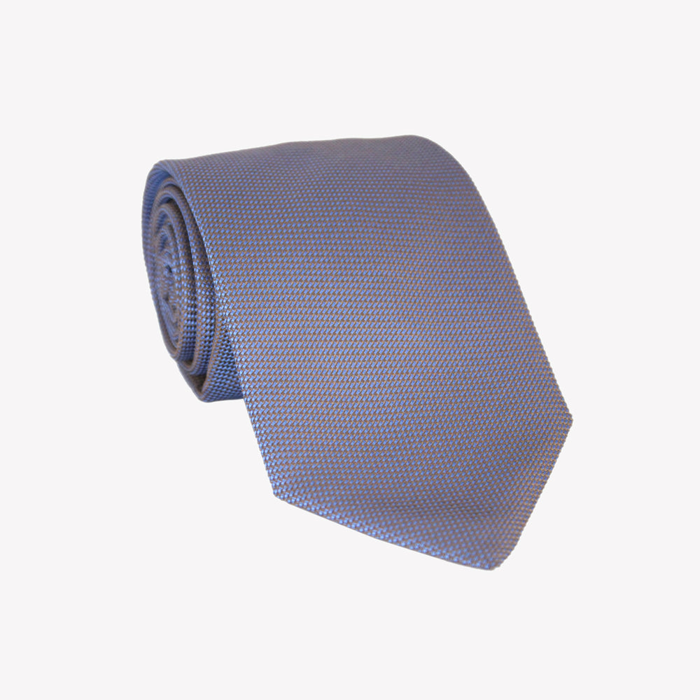 Grey with Blue Pin Tie