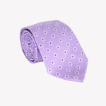 Light Purple with Pin Squares XL Tie