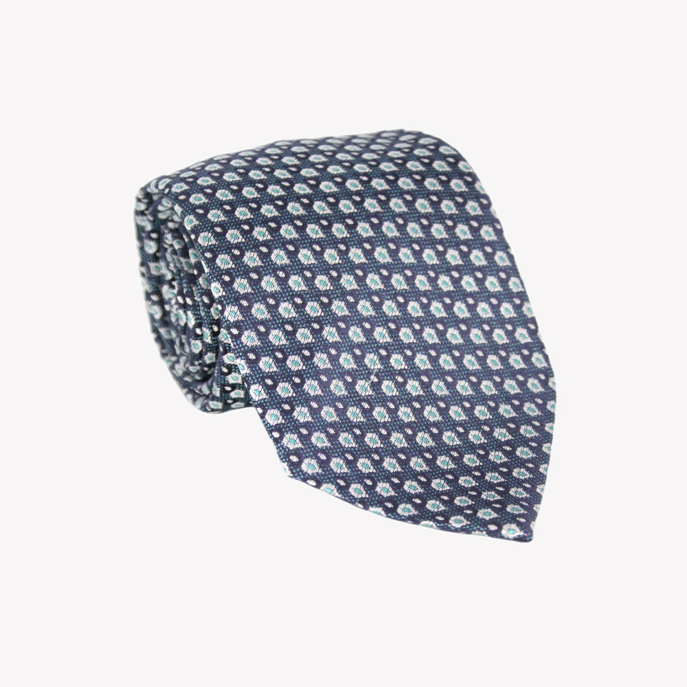 Navy with Aqua XL Tie