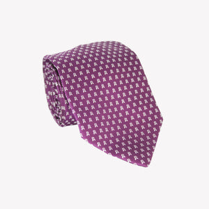 Purple with White Tulip Tie