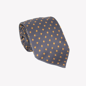 Grey with Yellow Diamond Shape Tie