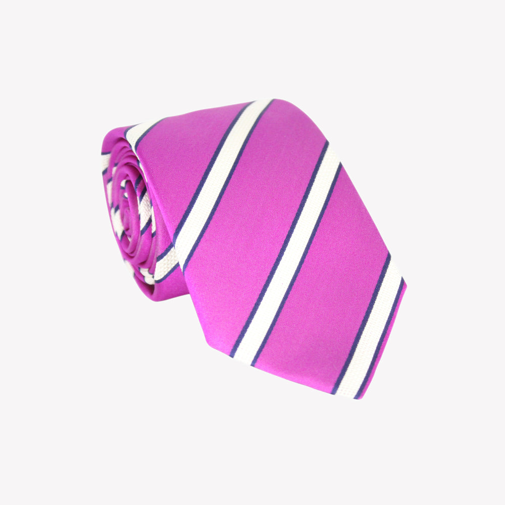 Light Purple with White Stripe XL Tie