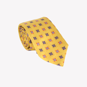 Yellow with Squares Tie