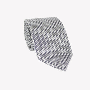 White and Grey Wavy Tie