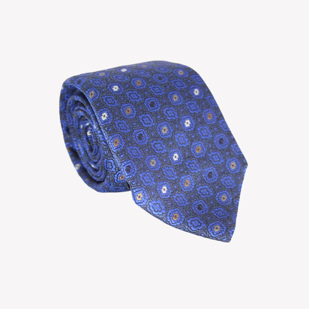 Blue Shapes Tie