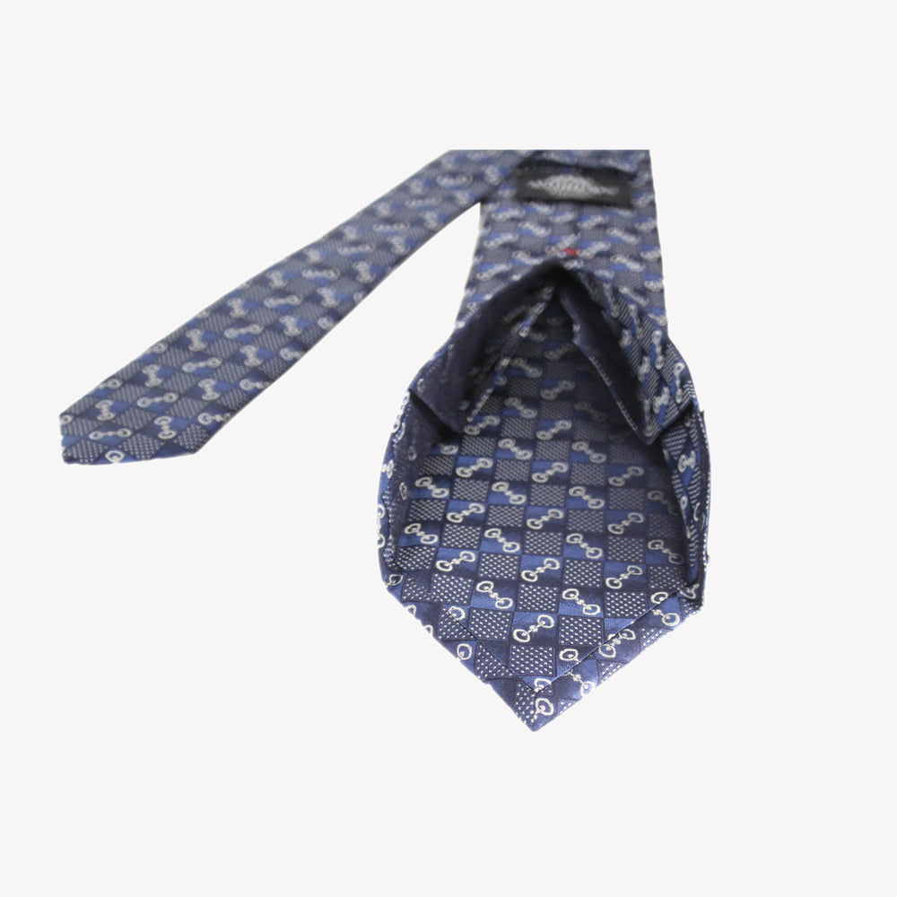 Navy with Blue Squares Tie