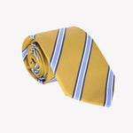 Yellow with Light Blue Stripe Tie